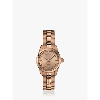 Tissot T1010103345100 Women's PR 100 Automatic Date Bracelet Strap Watch, Rose Gold
