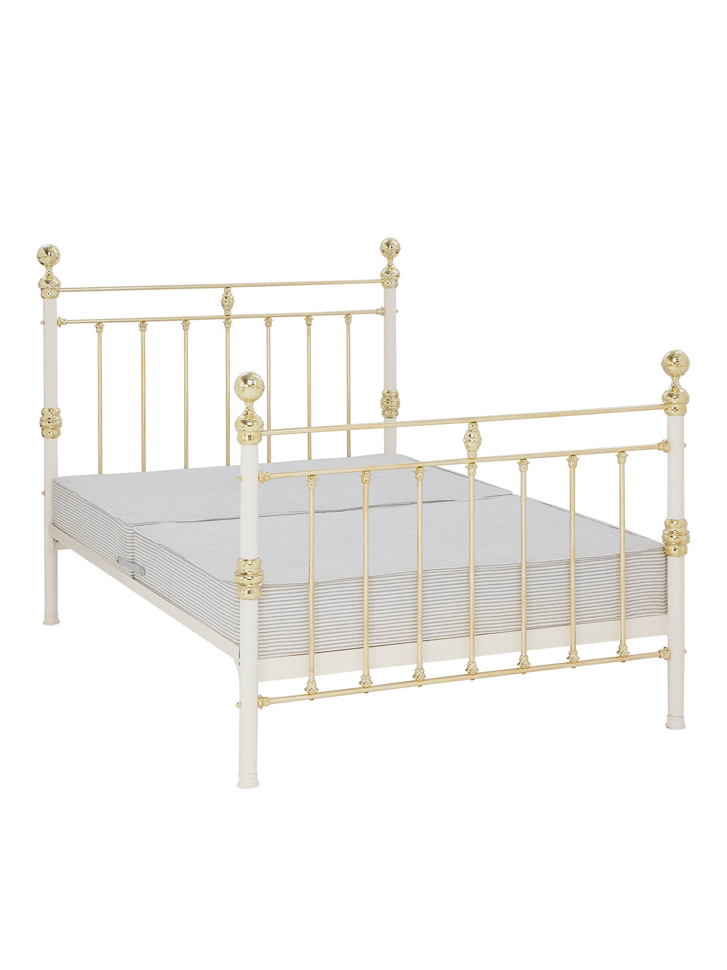 Wrought Iron And Brass Bed Co. George Sprung Bed Frame, Double ...