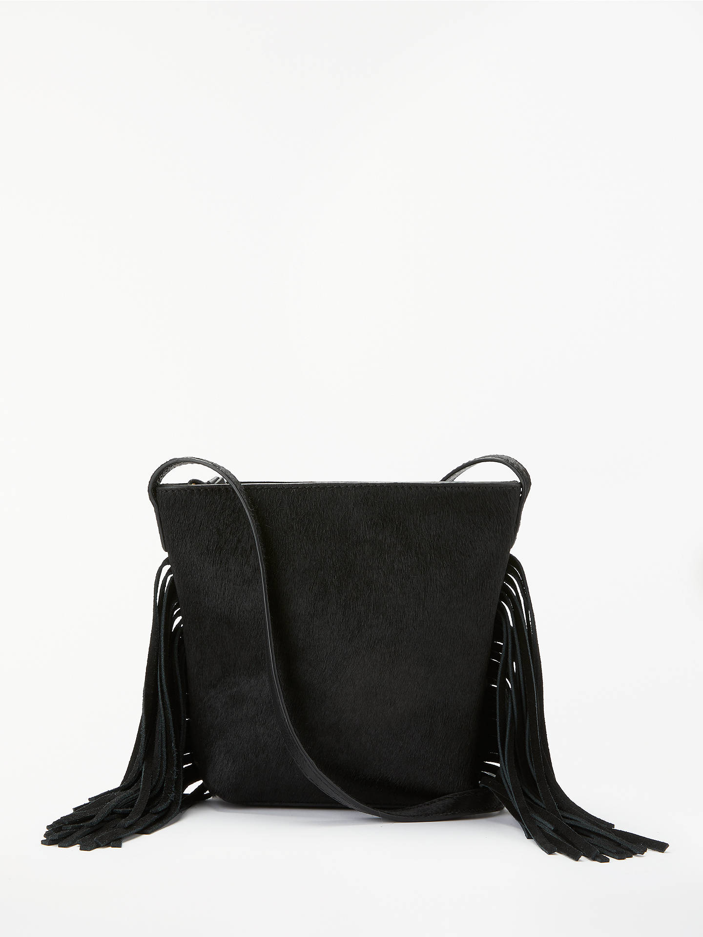 e0c8d067efb Buy AND/OR Mia Tassel Leather Small Zip Top Cross Body Bag, Black Online ...