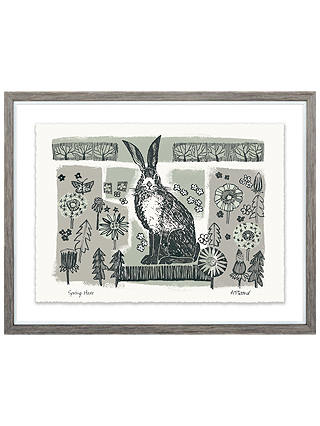 Buy Adelene Fletcher - Spring Hare Framed Print & Mount, 25 x 32cm Online at johnlewis.com