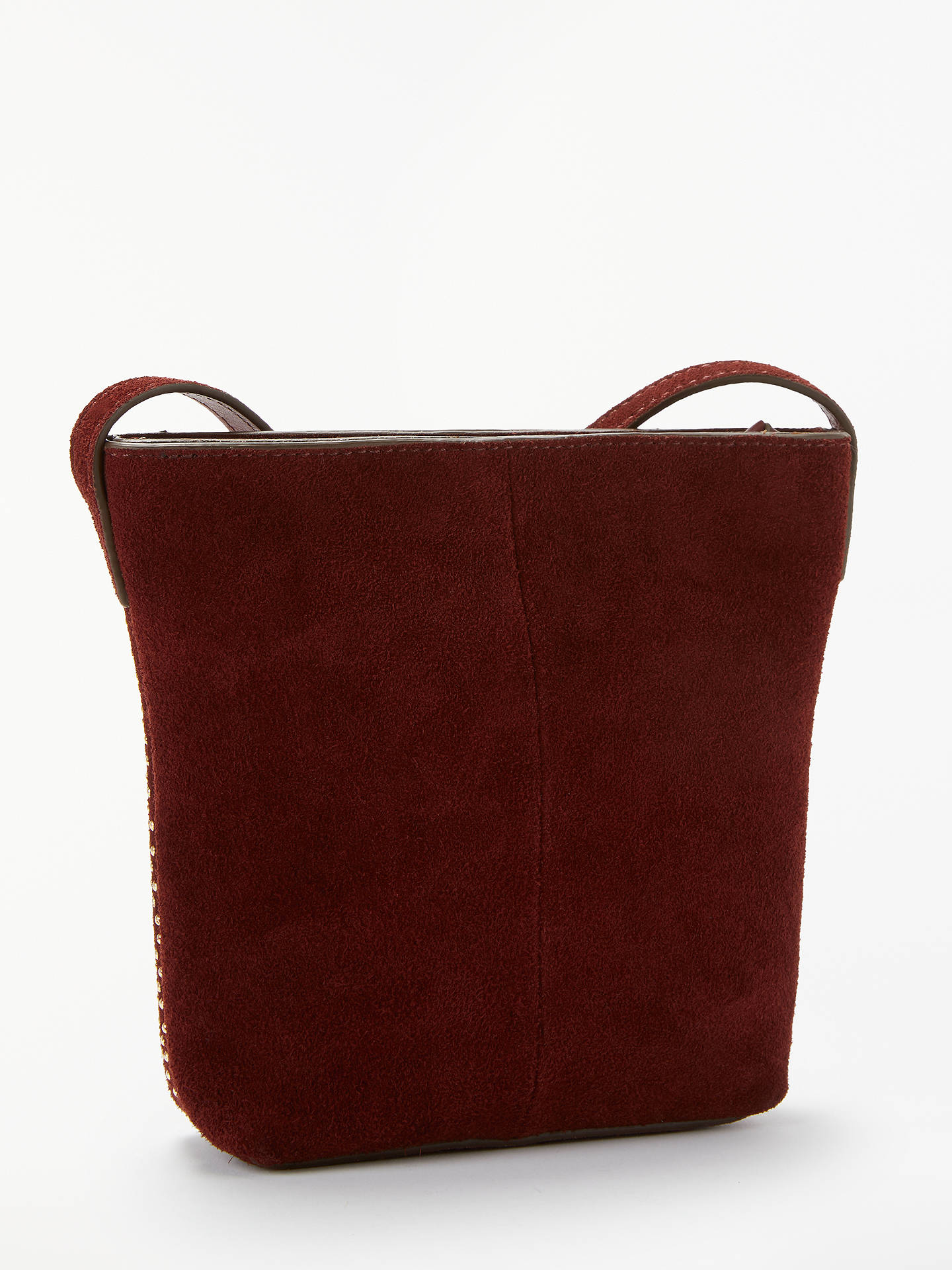 BuyAND/OR Mara Leather Bucket Bag, Red Online at johnlewis.com