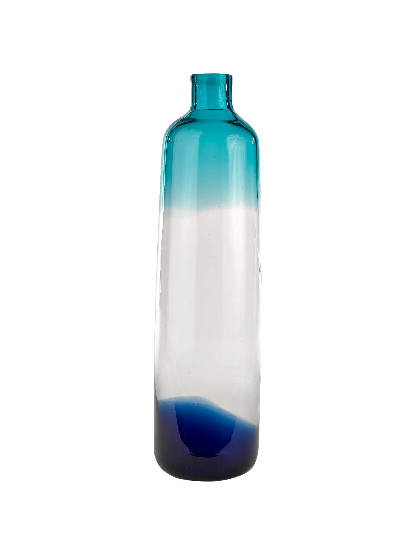 BuyPols Potten Pill Glass Vase, Blue, Large Online at johnlewis.com