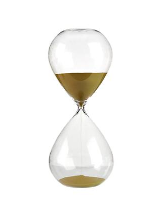 Pols Potten Hourglass Ball Sandglass, Large, Gold