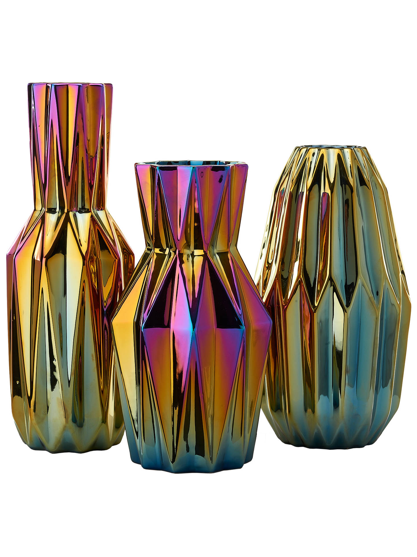 Buy Pols Potten Oily Folds Vase, Small Online at johnlewis.com