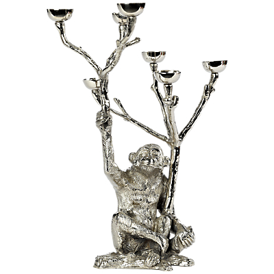 Pols Potten Monkey Candle Holder, Silver