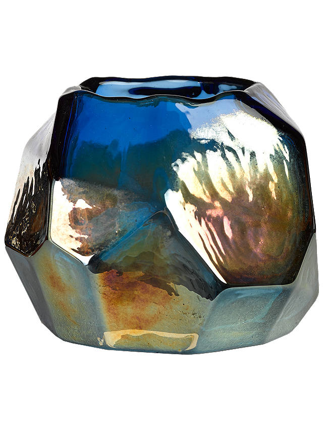 Buy pols potten Graphic Luster Candle Holder, Blue Online at johnlewis.com