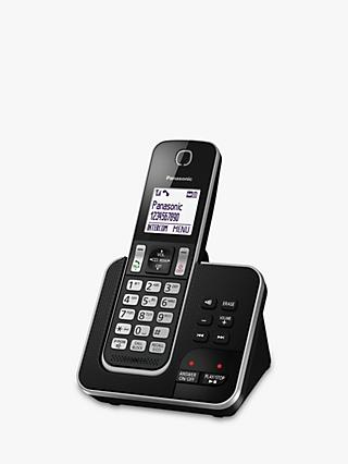 Panasonic KX-TGD620EB Digital Cordless Telephone with Dedicated Nuisance Call Block Button and Answering Machine, Single DECT