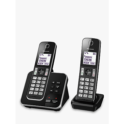Image of Panasonic KX-TGD622EB Digital Cordless Telephone with Dedicated Nuisance Call Block Button and Answering Machine, Twin DECT