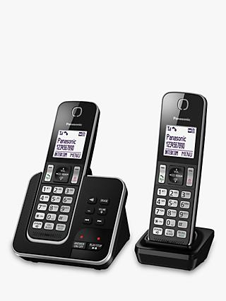 Panasonic KX-TGD622EB Digital Cordless Telephone with Dedicated Nuisance Call Block Button and Answering Machine, Twin DECT