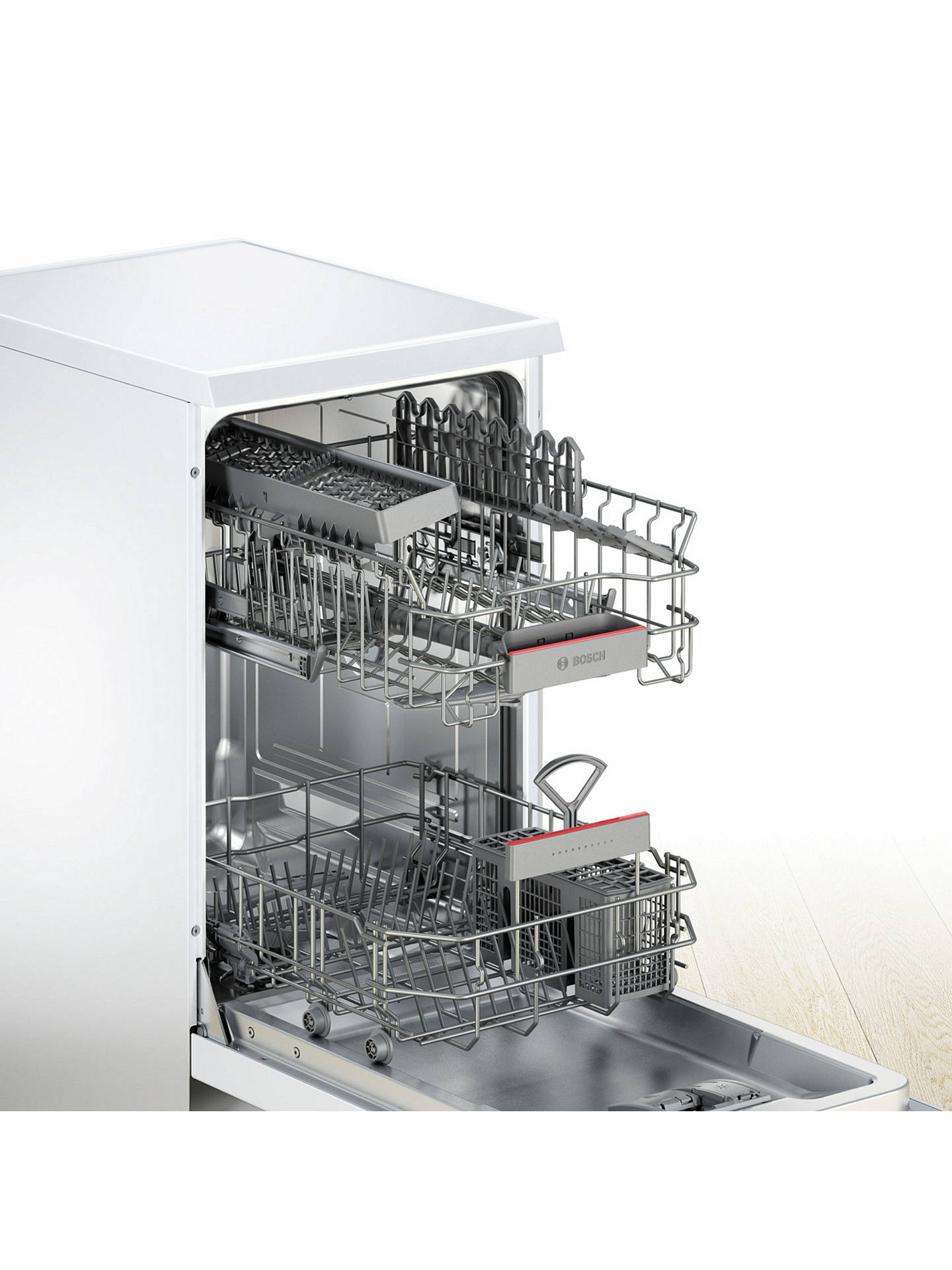BuyBosch SPS46IW00G Freestanding Slimline Dishwasher, White Online at johnlewis.com