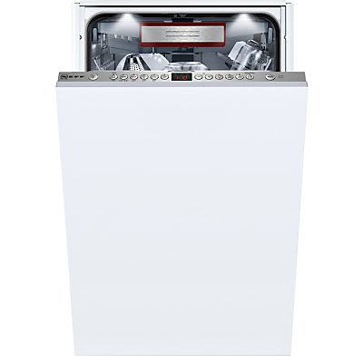 Image of Neff S586T60D0G Integrated Slimline Dishwasher, White