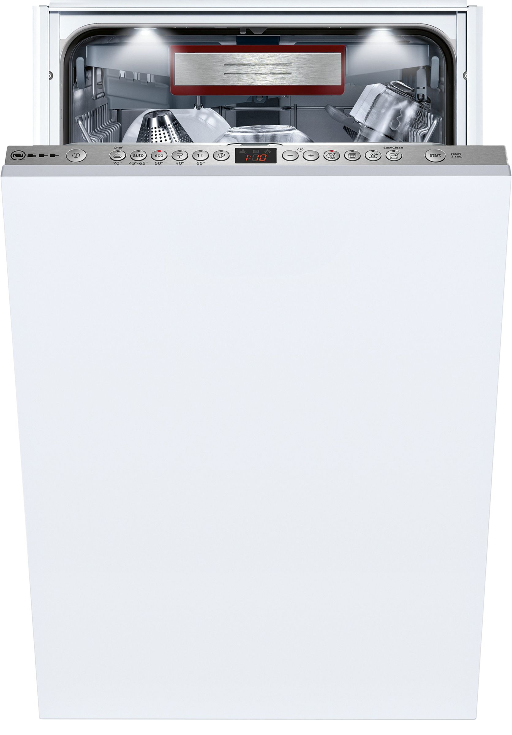 NEFF Neff S586T60D0G Integrated Slimline Dishwasher, White