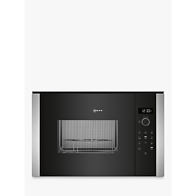 Image of Neff HLAGD53N0B Built-In Microwave Oven with Grill, Black/Silver