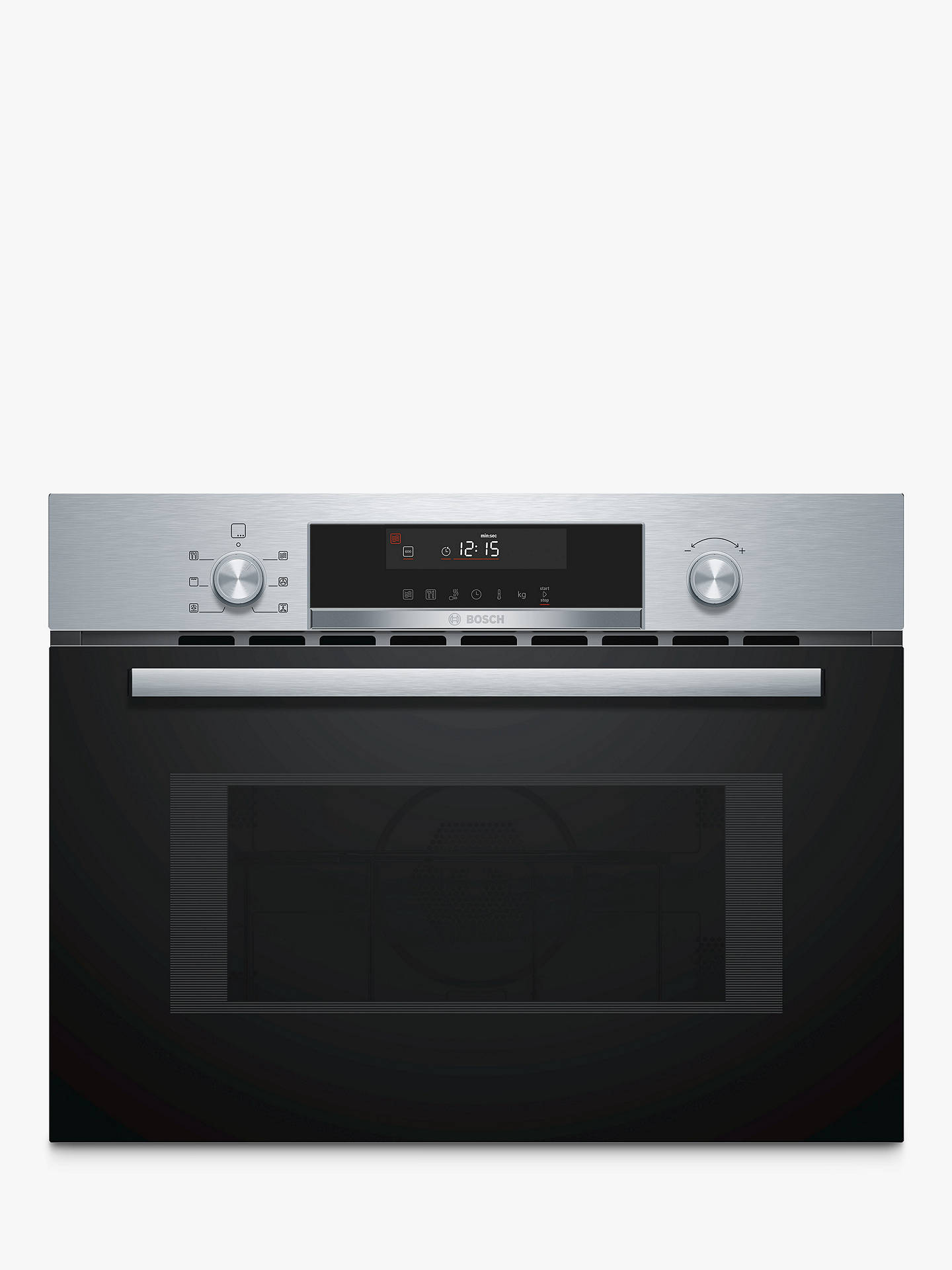 BuyBosch CMA585MS0B Built-In Microwave with Hotair Grill, Stainless Steel Online at johnlewis.com