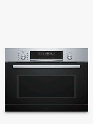 Bosch CPA565GS0B Built-In Microwave with Hotair Grill, Stainless Steel