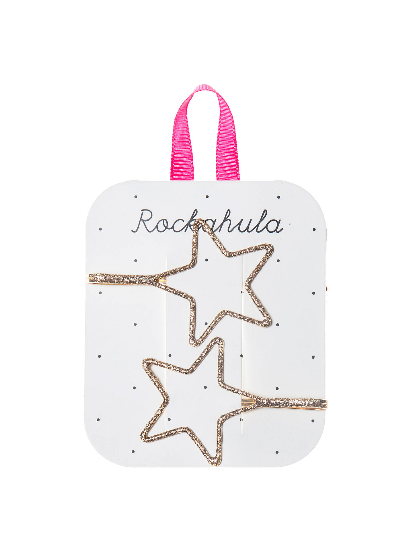 Buy Rockahula Girls' Cut Out Star Hair Slides, Pack of 2, Gold Online at johnlewis.com