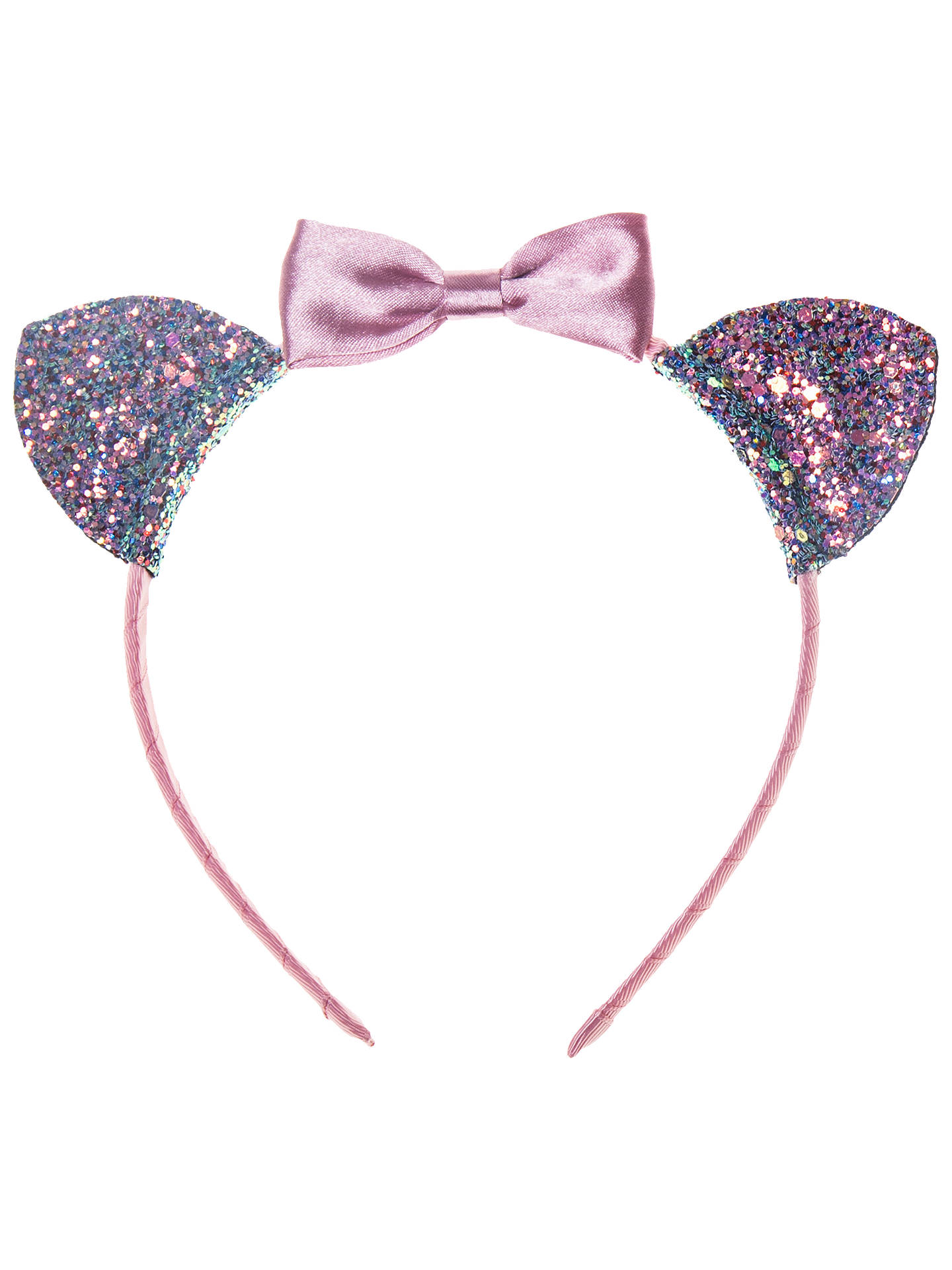 BuyRockahula Girls' Glitter Cat Alice Band, Pink Online at johnlewis.com