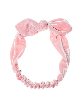 Buy Rockahula Girls' Velvet Tie Headband, Pink Online at johnlewis.com