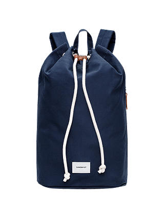 Buy Sandqvist Evert Ground Organic Cotton Backpack, Blue Online at johnlewis.com