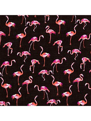 Spendlove Flamingo Print Fabric, Black