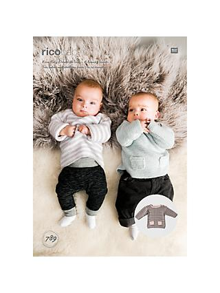 Rico Baby Dream DK Baby Jumpers Knitting Pattern, 789