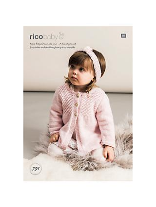Rico Baby Dream DK Jacket Knitting Pattern, 791