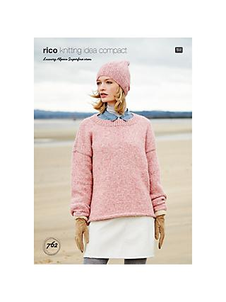 01401307ea7 Rico Aran Superfine Hat And Sweater Knitting Pattern