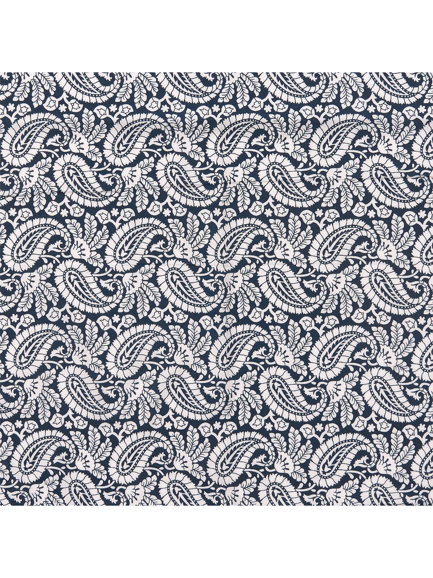 Ods Textiles Paisley Pattern Print Fabric Navy Online At Johnlewis