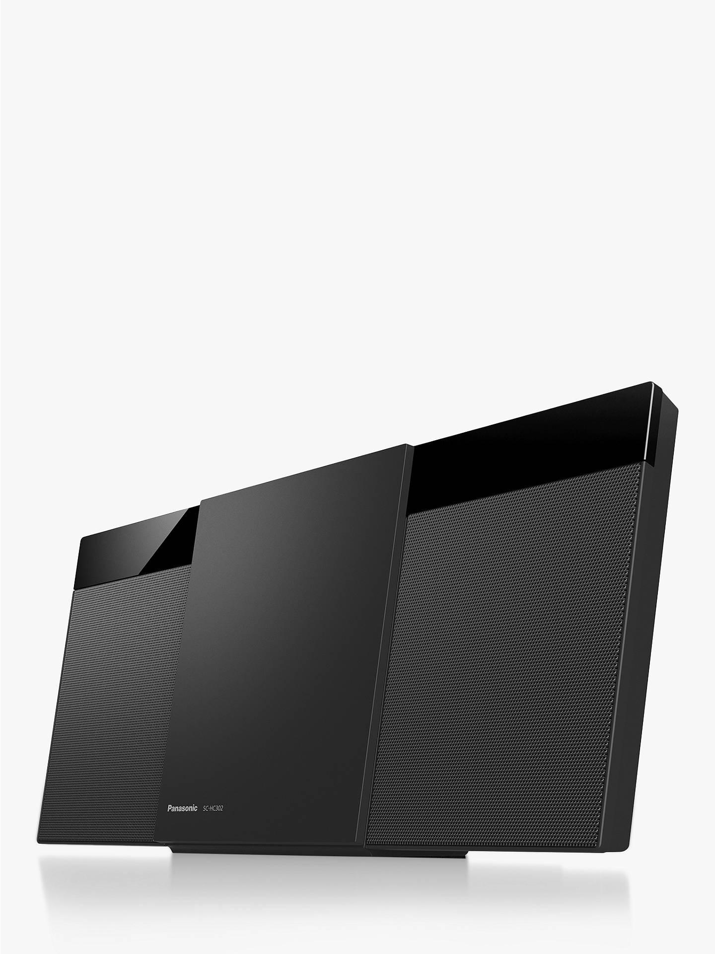 Panasonic SC-HC302 Bluetooth DAB+ Micro Hi-Fi System, Black