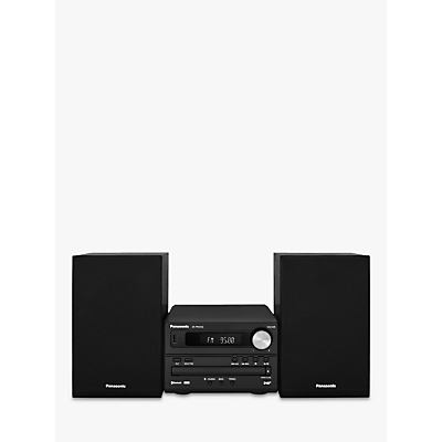 Panasonic SC-PM252 DAB/DAB+/FM/CD Bluetooth Micro Hi-Fi System, Black