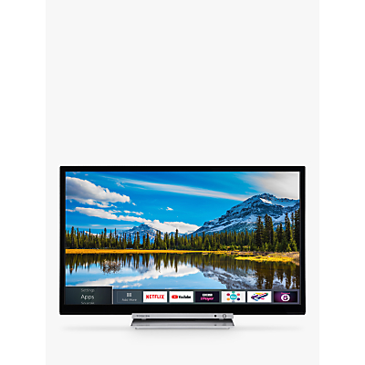 Image of Toshiba 24D3863DB LED HD Ready 720p Smart TV/DVD Combi, 24 with Freeview HD & Freeview Play, Black