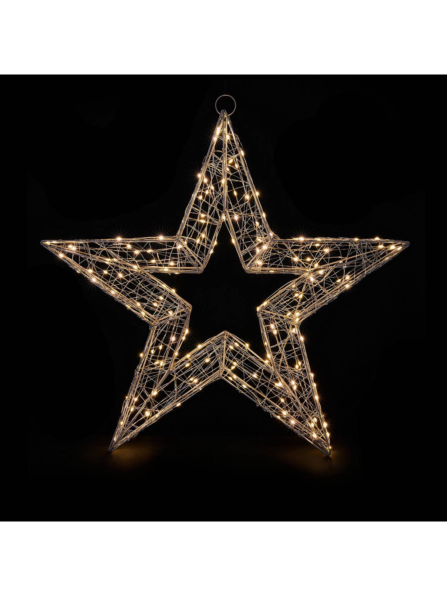 John Lewis Partners Micro 180 Led Star Light Silver Online At Johnlewis