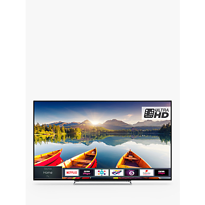 Toshiba 43U6863DB LED HDR 4K Ultra HD Smart TV, 43 with Freeview HD & Freeview Play, Black