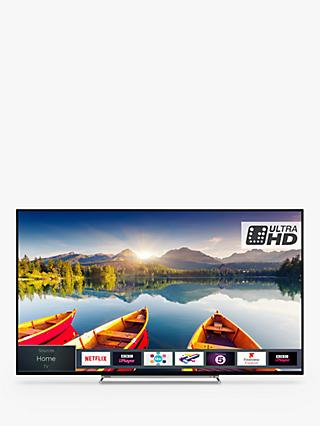 "Toshiba 43U6863DB LED HDR 4K Ultra HD Smart TV, 43"" with Freeview HD & Freeview Play, Black"