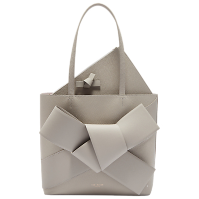 Ted Baker Alliie Leather Giant Bow Shopper Bag