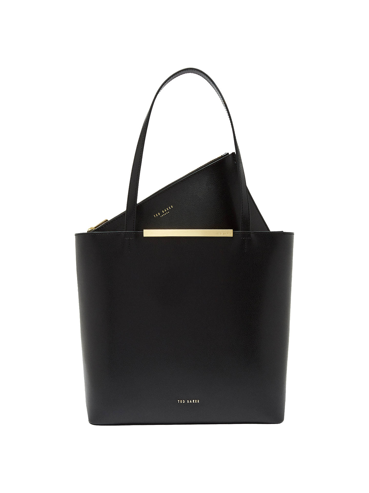 Ted Baker Melisa Large Leather Tote Bag, Black by Ted Baker