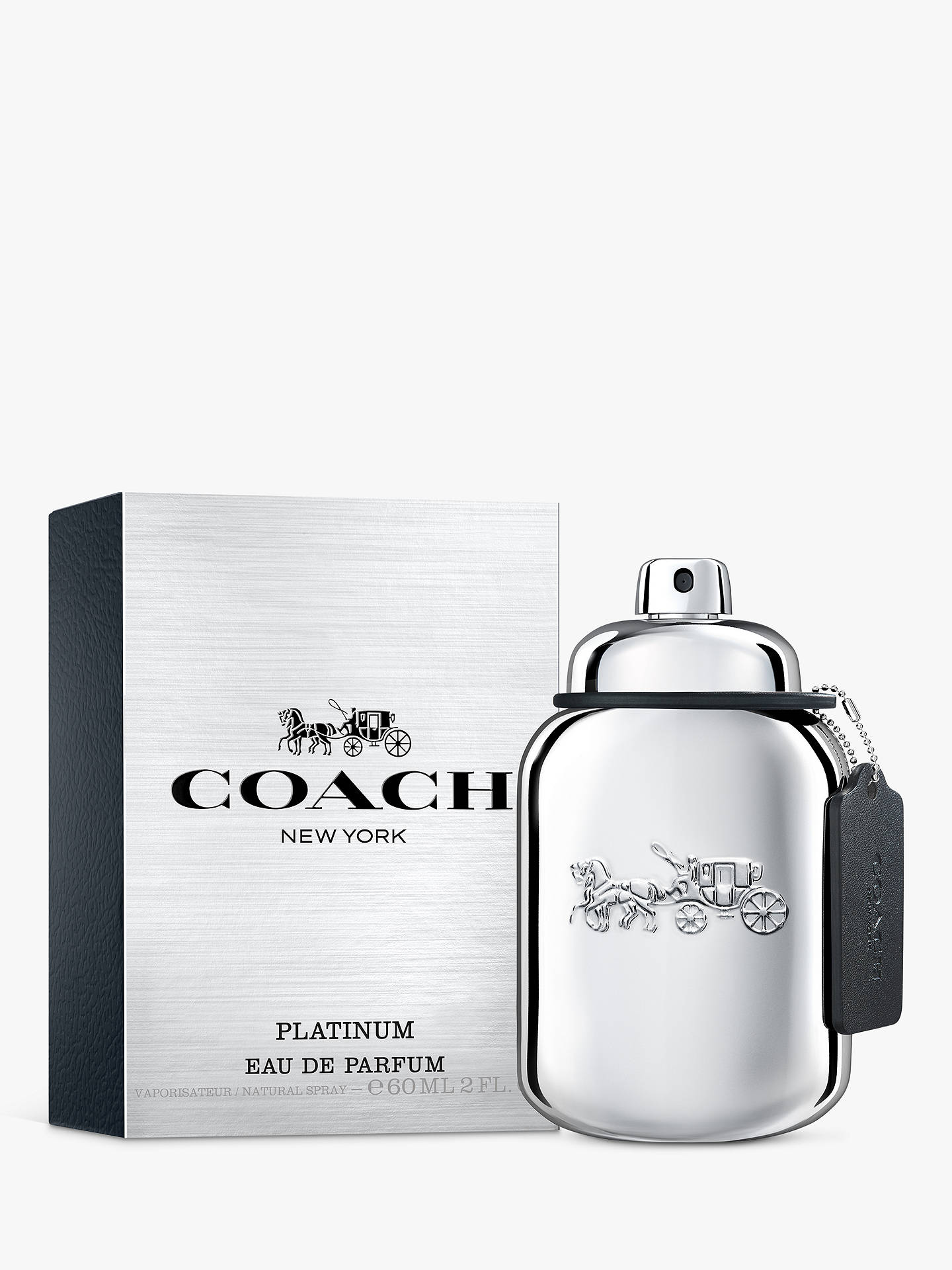 BuyCoach For Men Platinum Eau de Parfum, 60ml Online at johnlewis.com