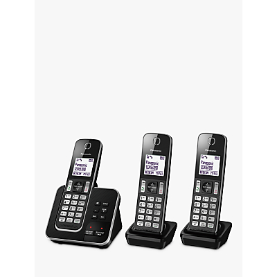 Image of Panasonic KX-TGD623EB Digital Cordless Telephone with Dedicated Nuisance Call Block Button and Answering Machine, Trio DECT