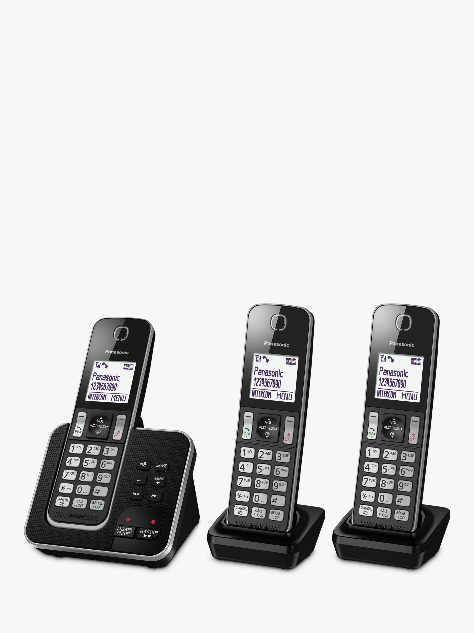 Panasonic Panasonic KX-TGD623EB Digital Cordless Telephone with Dedicated Nuisance Call Block Button and Answering Machine, Trio DECT
