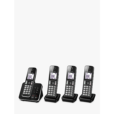 Image of Panasonic KX-TGD624EB Digital Cordless Telephone with Dedicated Nuisance Call Block Button and Answering Machine, Quad DECT