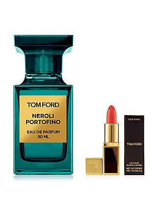 TOM FORD Private Blend Neroli Portofino Eau de Parfum, 50ml with Deluxe Lip Colour (Bundle)
