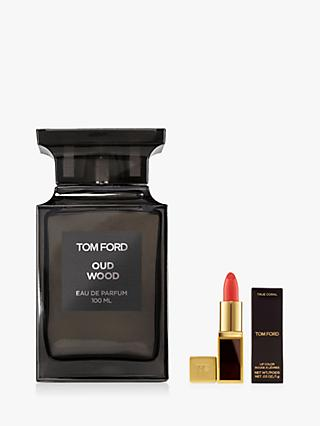 TOM FORD Private Blend Oud Wood Eau De Parfum, 100ml with Deluxe Lip Colour (Bundle)