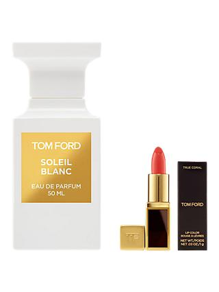 TOM FORD Private Blend Soleil Blanc Eau de Parfum, 50ml with Deluxe Lip Colour (Bundle)