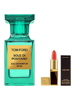 TOM FORD Private Blend Sole Di Positano Eau de Parfum, 50ml with Deluxe Lip Colour (Bundle)