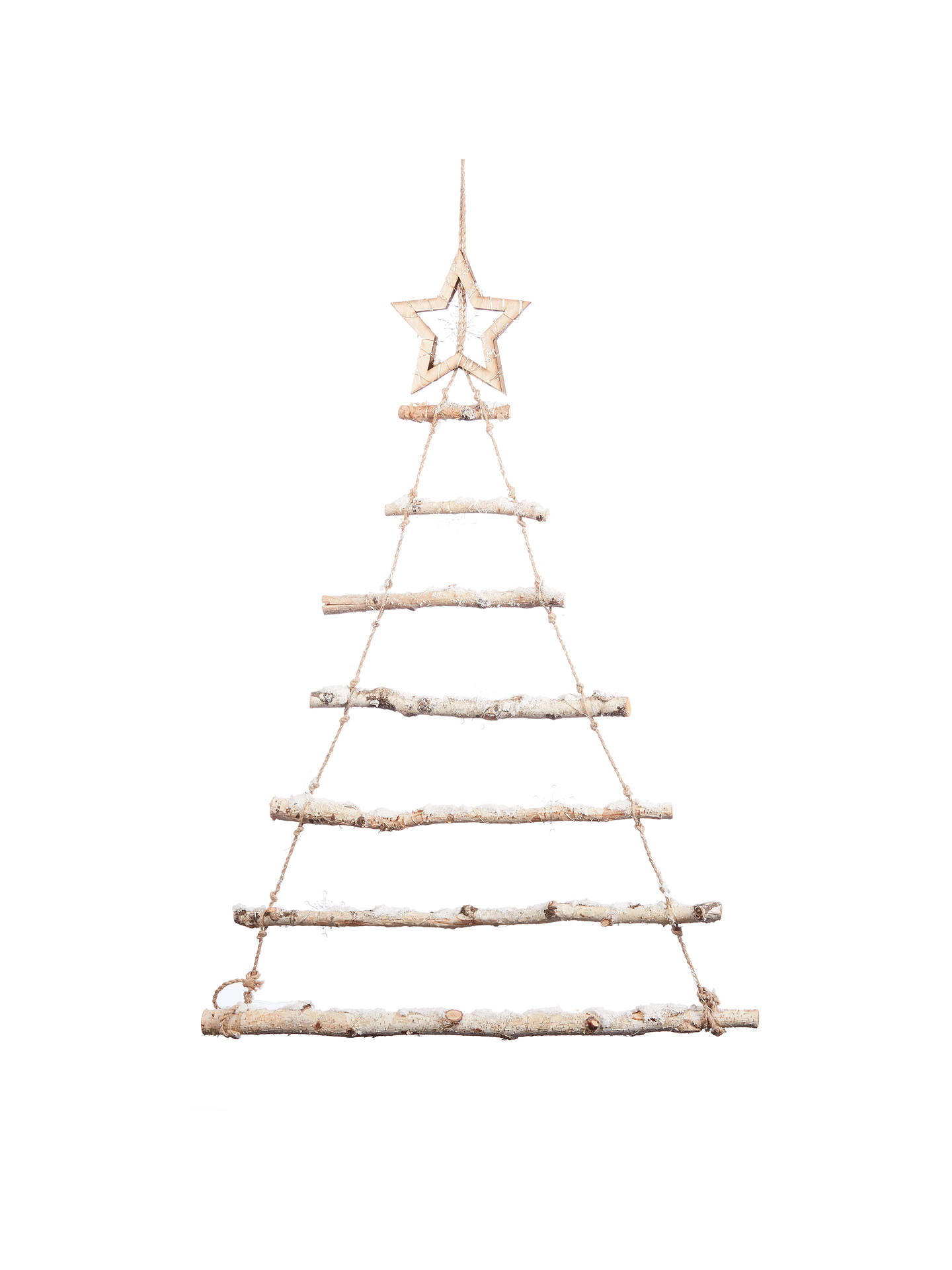 BuyJohn Lewis & Partners Moonstone Pre-lit Snowy Ladder Tree Decoration Online at johnlewis.com