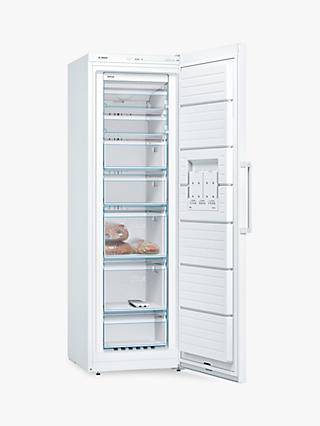 Bosch GSN36VW3PG Tall Freezer, A++ Energy Rating, 60cm Wide, White