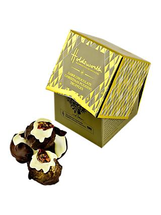 Holdsworth Dark Chocolate Christmas Pudding Truffles Mini Cube, 55g