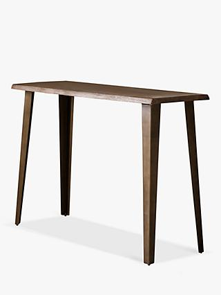 Hudson Living Foundry Console Table, Smoked Oak