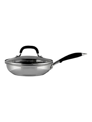 John Lewis & Partners 'The Pan' Stainless Steel Non-Stick Egg Poacher, 20cm