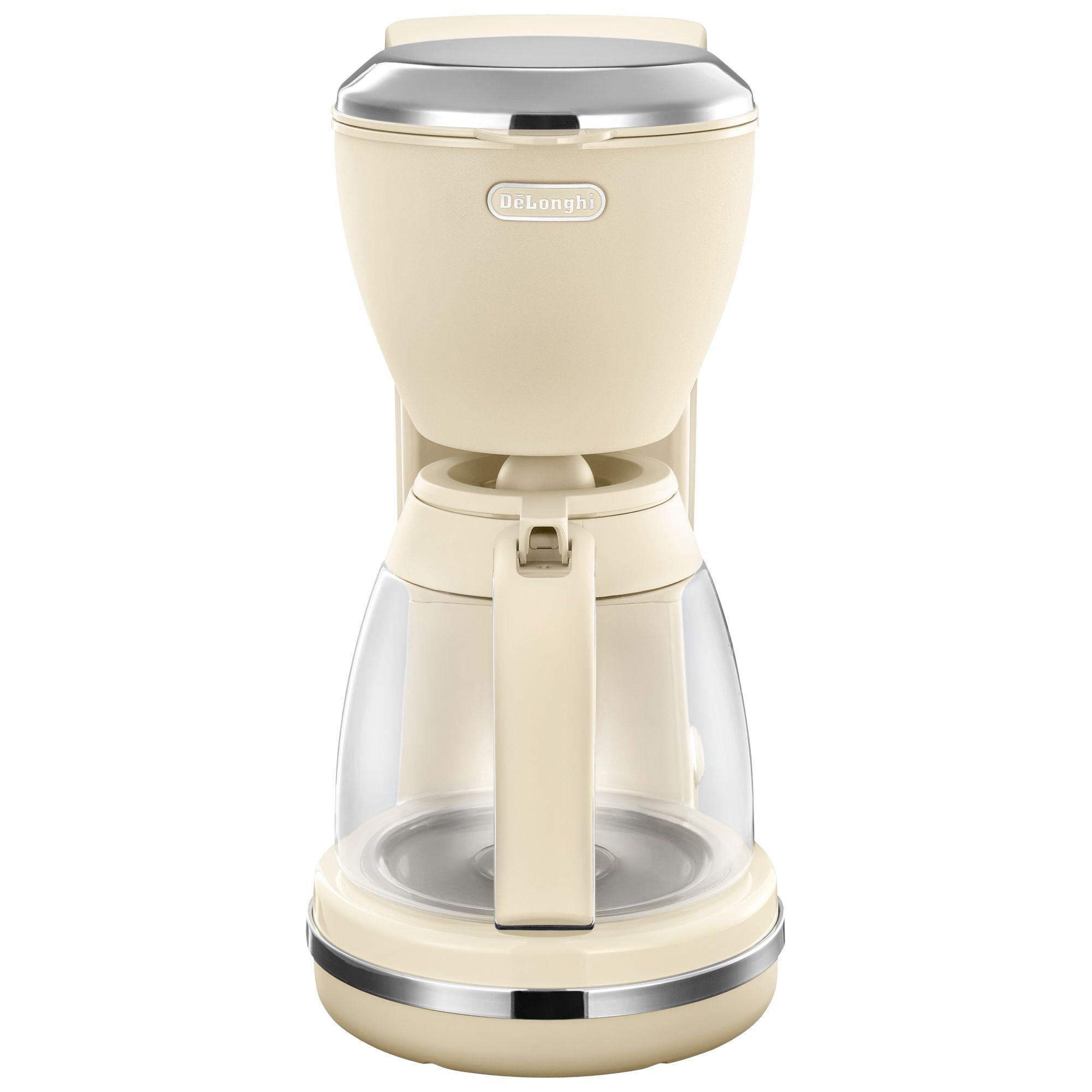 Delonghi De'Longhi ICMX210 Argento Flora Filter Coffee Maker, Beige